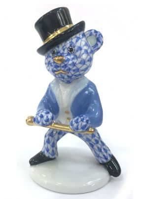 Herend Porcelain Fishnet Figurine of a Tap Dancer